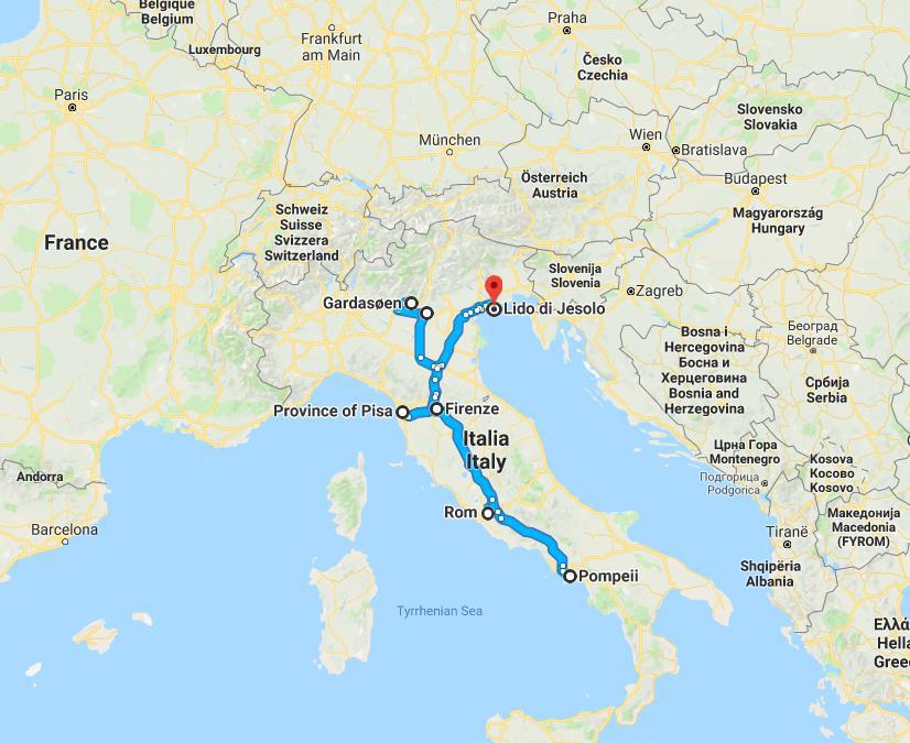 Italien Rundt Fantastisk Rundrejse Med Bus Hanstholm Rejser