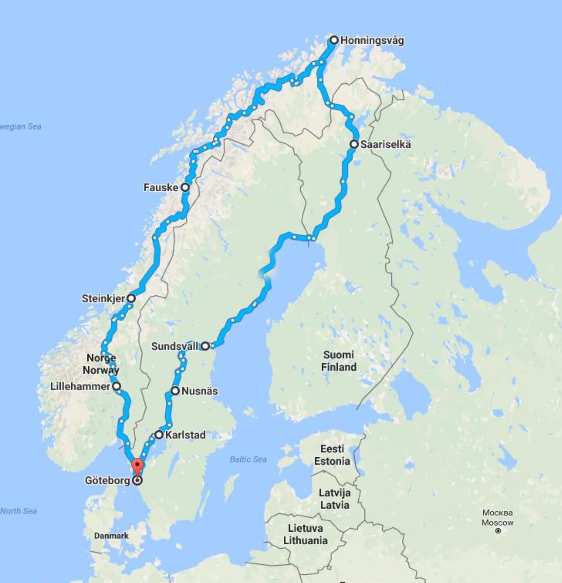 Nordkap Rundrejse Busrejse Med Hanstholm Rejser